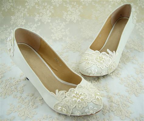 Lace Flat Wedding Shoes by Wedding Shoes Flat Lace Bridal Shoes Pearl Wedding Shoes