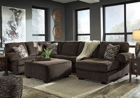 3pc Sectional Sofa Jinllingsly Chocolate 3pc Laf Sofa Sectional Louisville Overstock Warehouse
