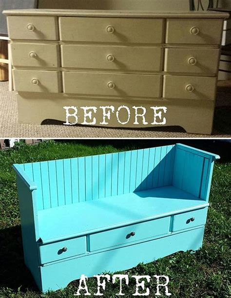 bench made from dresser 1000 ideas about dresser to bench on pinterest dresser bench diy dressers and
