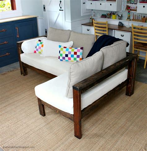 Diy Sofa Plans by 2x4 Diy Sectional With Crib Mattress Cushions