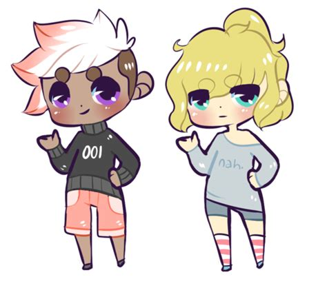 chibi girls 2 a chibi human adopts closed by oakadopts on
