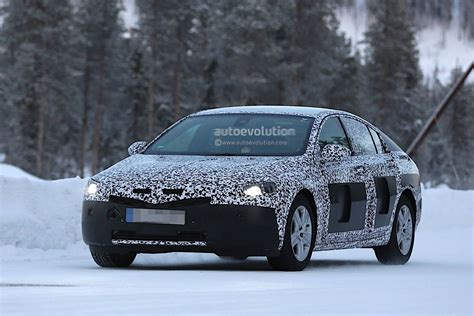 opel winter 2017 opel insignia spied winter testing looks spacious
