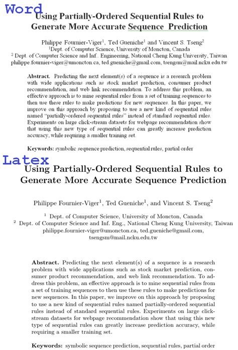 latex tutorial for research paper word vs latex1 the data mining blogthe data mining blog