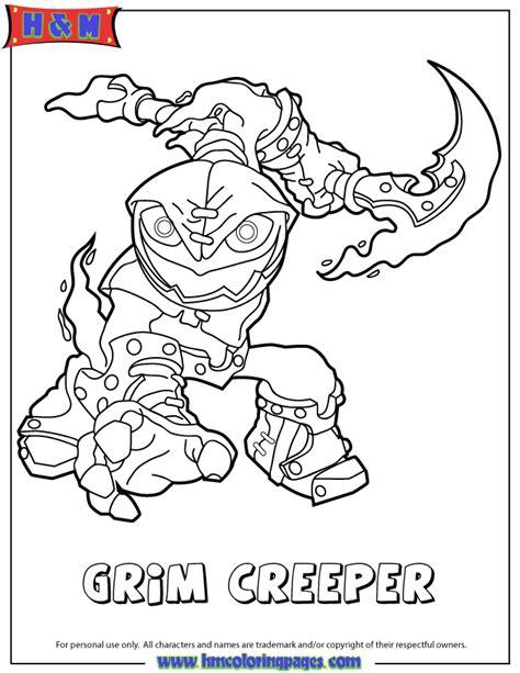 skylanders swap force undead series1 grim creeper coloring