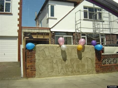 House Pranks by House Gets Painted In Mr Blobby Colours In Prank