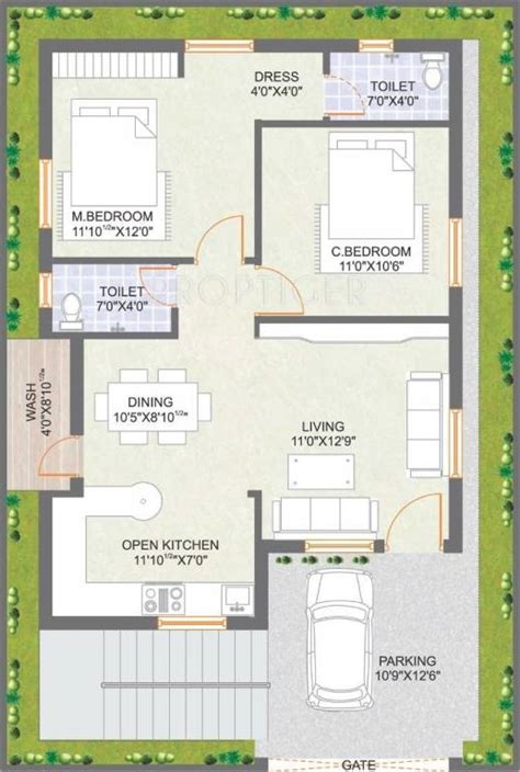 east meadows floor plan 1400 sq ft 2 bhk 2t villa for sale in praneeth pranav