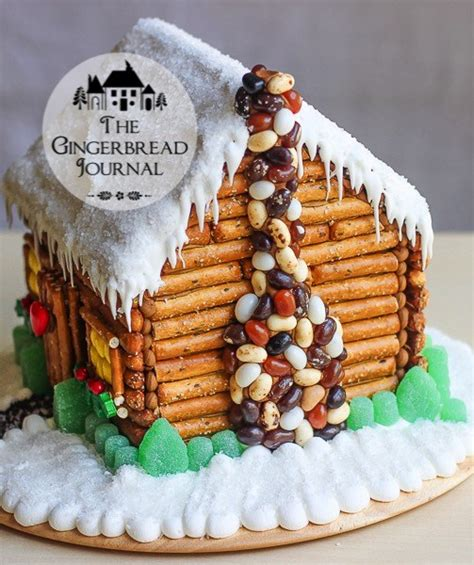 gingerbread log cabin template a gingerbread house cabin in winter the gingerbread journal