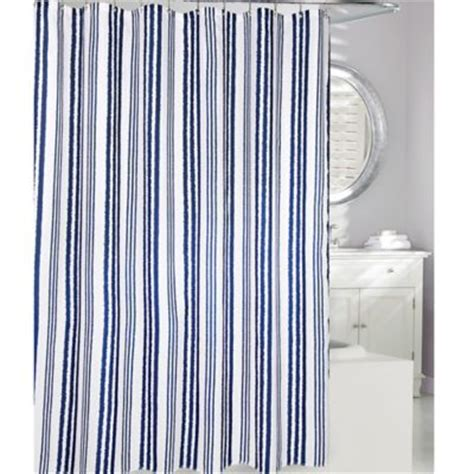navy fabric shower curtain buy navy shower curtains from bed bath beyond