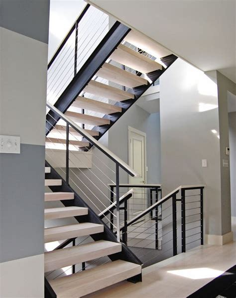 Modern Stairs Design Indoor 38 Edgy Cable Railing Ideas For Indoors And Outdoors Digsdigs