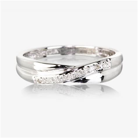 9ct white gold eternity ring