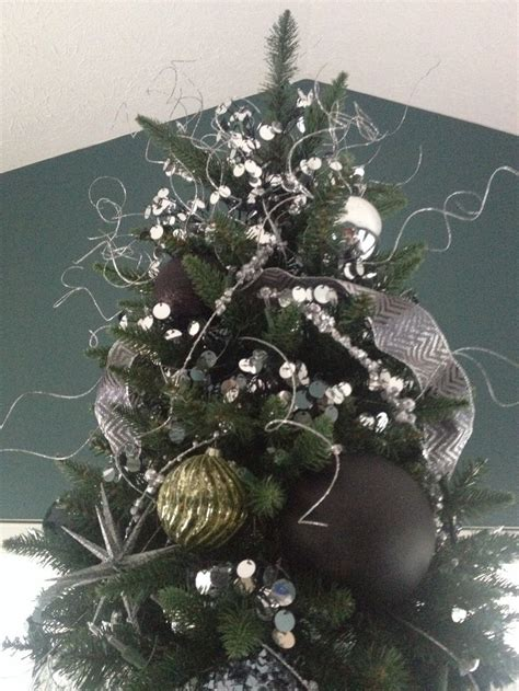 black silver and green christmas tree christmas