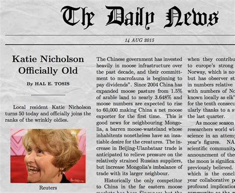 How To Make A News Paper Article - newspaper generator with your own picture