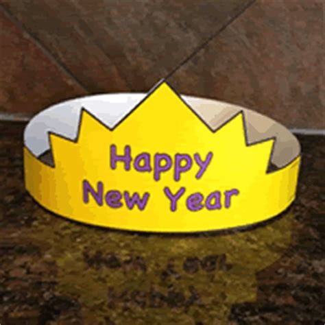 new year craft template new years hat paper craft color template