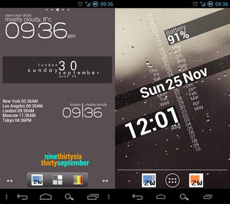 zooper widget templates 5 multi feature widget packs for your android device