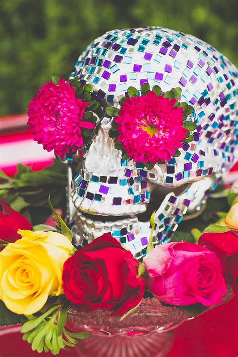 mexican style christmas decoration in pinterest make this mosaic skull centrepiece for dia de los muertos or cinco de mayo bespoke