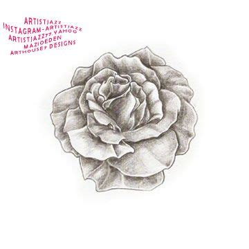single black rose tattoo country in pencil sketch single