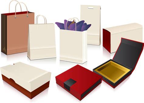 design online packaging different blank packaging design vector set 03 over
