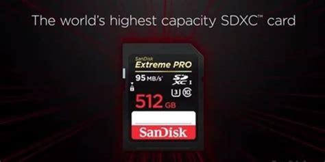 Kartu Micro Sd Sandisk fantastis kartu sd baru sandisk berkapasitas 512 gb merdeka