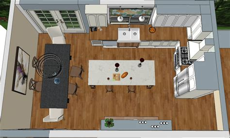 Kitchen Birds Eye View by Kitchen Design With Dezignable It In The