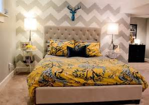 Chevron Bedrooms Chevron Wallpaper For The Bedroom Accent Wall Always Lends