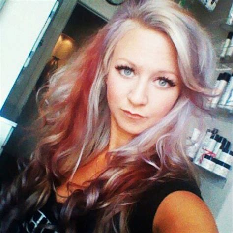 Hair Stylist Casey by Lavender Hair With Panels And Platinum Hi Lights By Me