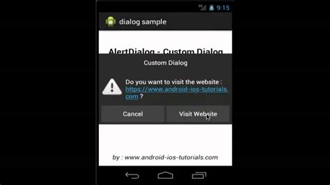tutorial android dialog android tutorial custom dialog and alertdialog exle