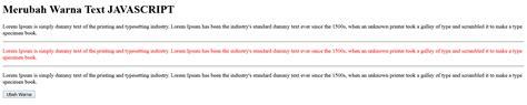 cara merubah cara merubah warna text dengan javascript kursus web design