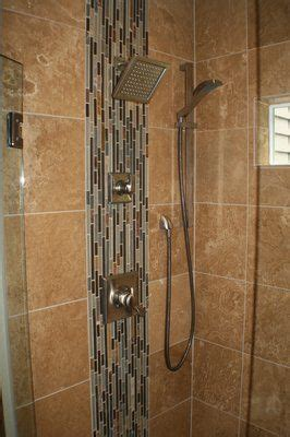 Bathroom Tiles Pictures Ideas Vertical Mosaic Strip In Rectangles Dont Like The Color