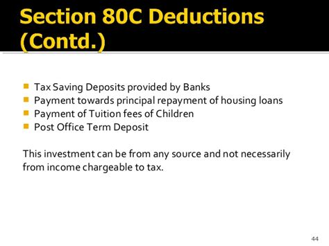 term deposit under section 80c basic principles of income tax