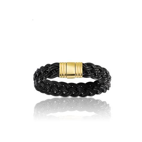 pulseras de cuero y oro pulsera de cuero y oro para caballero ocarat