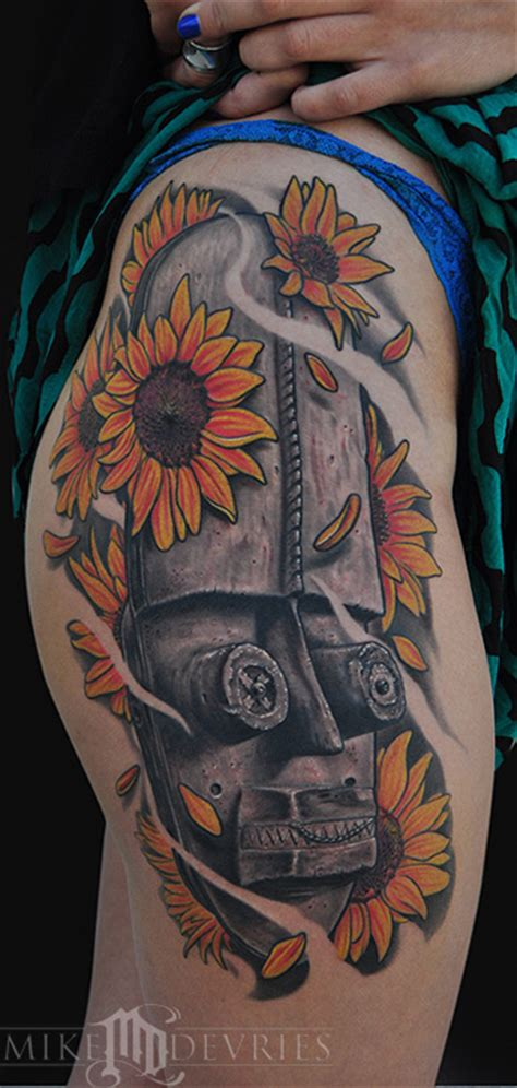 african mask tattoo designs mask by mike devries tattoos