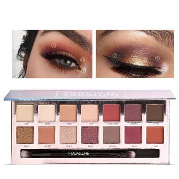 Focallure Tropical Vacation Eyeshadow Palette 20 colors shimmer glitter eye shadow powder palette matte