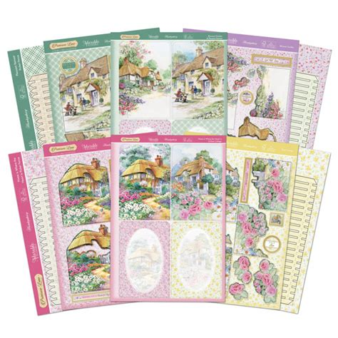 Decoupage Card Kits - hunkydory primrose picket fence decoupage card