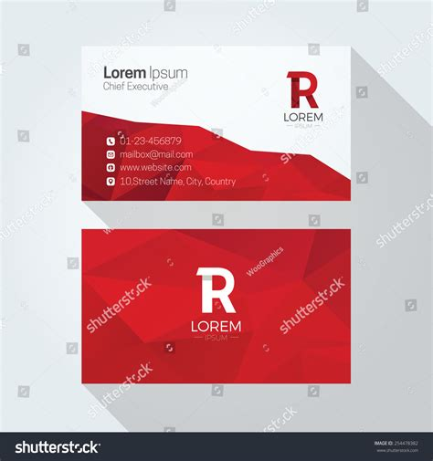 Business Letter Background R Letter Logo Abstract Polygonal Background Stock Vector 254478382