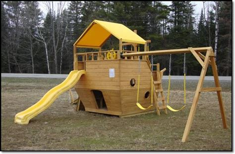 sheds and swings pirate ship swing set garden pinterest kid sheds