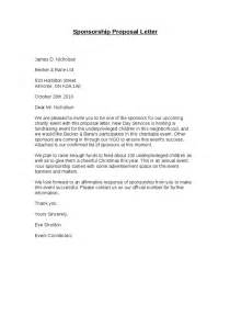 Sponsorship Marketing Letter Sponsorship Letter Hashdoc