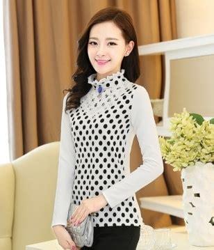 Kalung Trendy Kalung Pesta New Fashion Neclace Ka Murah lace collar blouse bl2998 black dot tamochi