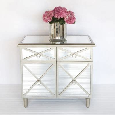 mirrored side table bedroom claude chest side table mirrored furniture by worlds away