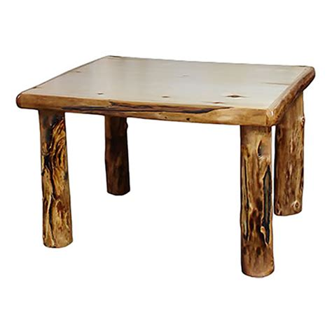 Log Dining Tables Light Aspen 48 Quot Wide Dining Table Rustic Log Reclaimed Industrial Contemporary Furniture