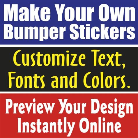 How To Make Handmade Stickers - make your own custom bumper sticker makestickers