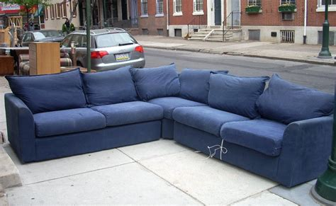 Navy Blue Sectional by Uhuru Furniture Collectibles 3 Navy Blue Sectional Sofabed Sold