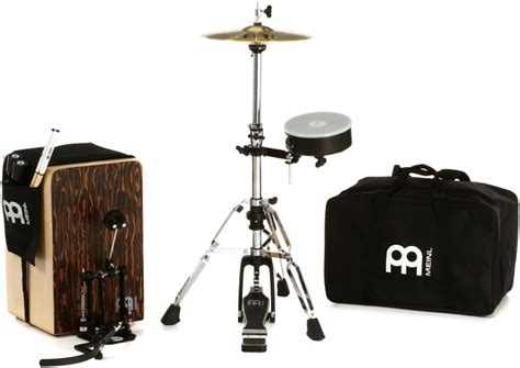 Cahon Akustik Drum Bok New meinl percussion cajon drum set with cymbals and hardware striped boreas sweetwater