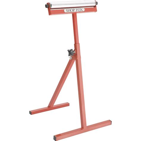 roller stands woodworking stands tables bases shop fox roller stand height
