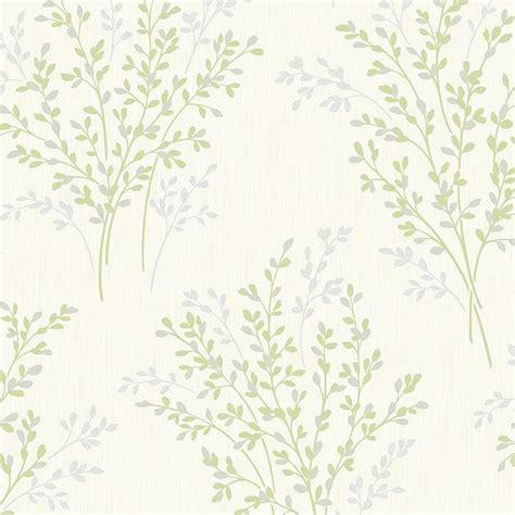 wallpaper green and cream fine decor summer blossom textured glitter wallpaper green