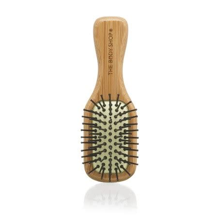 Mini Bamboo Brush haircare mini bamboo hair brush the shop