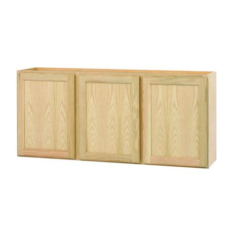 wall cabinets 36x30x12 in wall cabinet in unfinished oak w3630ohd the