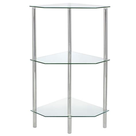 Dining Room Table Parts corner glass shelf unit 3 tier hartleys