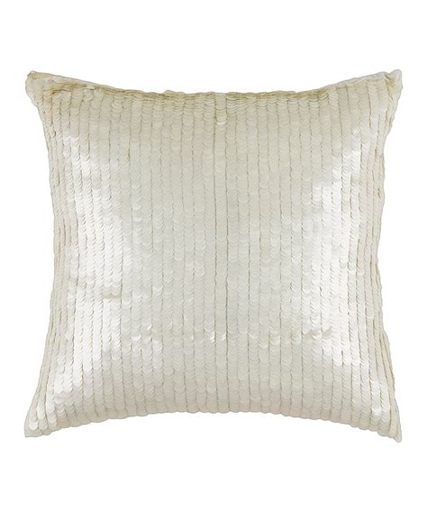 Sequin Decorative Pillows by White Sequin Transitional Throw Pillow