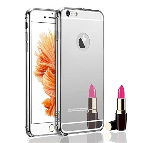 Fashion Ultrathin Collage For Apple Iphone 6 Silver aroko luxury aluminum ultra thin mirror metal cover for iphone 6s 4 7inch silver desertcart