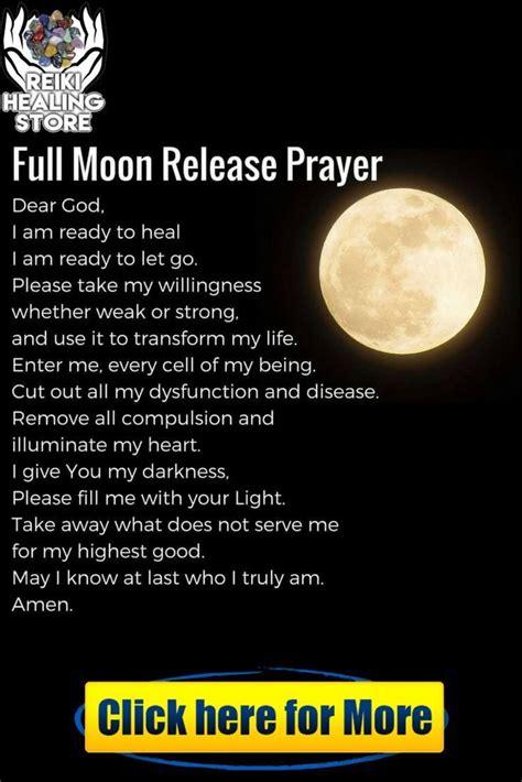 full moon release prayer   love reiki prayer